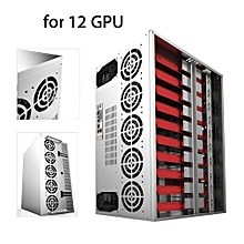 Crypto Coin Open Air Mining Frame Rig Graphic Case For 6-12 GPU BTC Ethereum EW