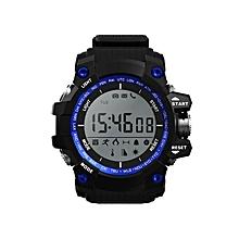 Bluetooth Smartwatch NO.1 F2 IP68Bracelet Sleep Monitor SMS Push Call Alert - Blue