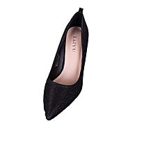 Black Ladies Pointed Toes Heel