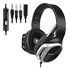 SADES R17 Stereo Gaming Headset Over-Ear Wired Headphones Earphones for Laptop Mac PC PS4 Xbox One Nintendo Switch with Microphone 3.5mm Jack Mic Mute Volume Control