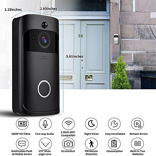 WiFi Smart Video Doorphone 1 0MP HD 720P IP Camera Wireless Video Intercom  System Waterproof IOS Android APP Mobile Doorbell