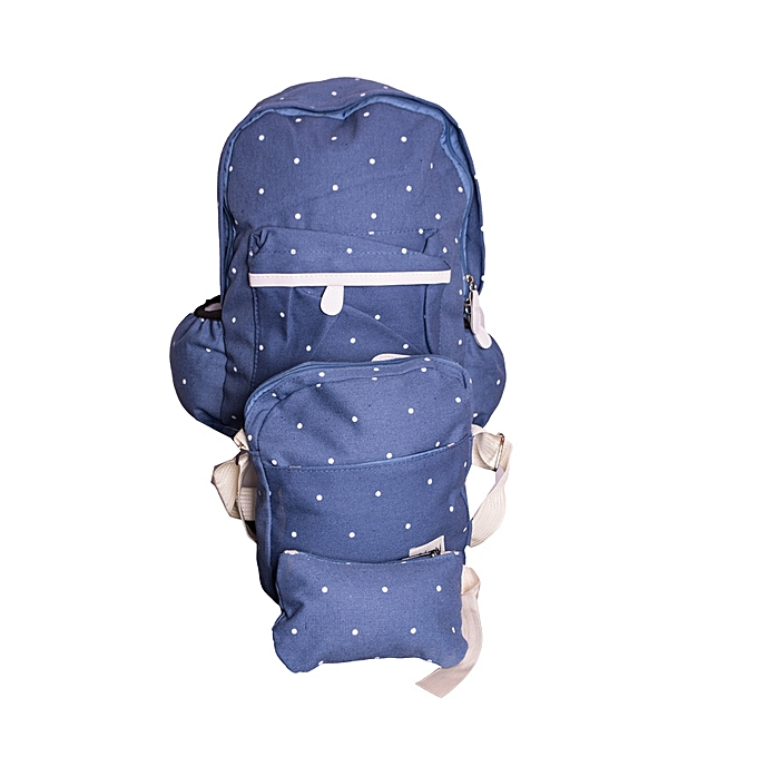Student Canvas Backpack Student Book Bag with Purse Laptop Bag 3Pcs Set 03324c0141c2