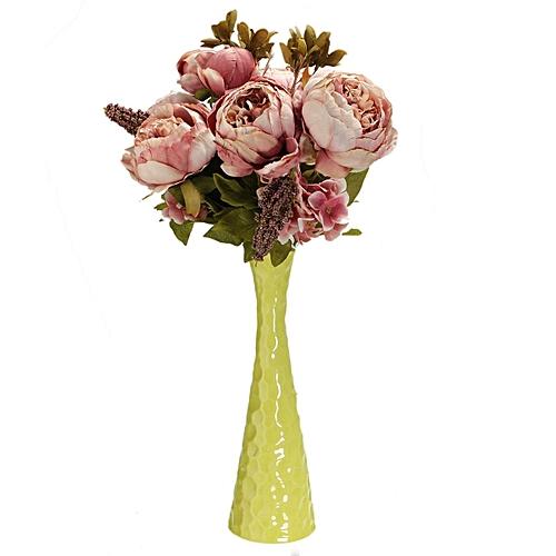 Generic Artificial Silk Peony Bridal Flower Bouquet Home Wedding