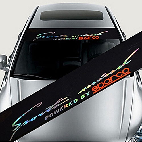 Colorful reflective decoration decals car stickers styling front windshield decal sticker colorstyle 4