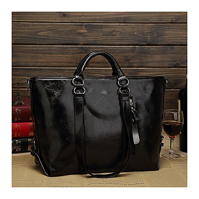 Women Fashion Minimalist Handbag Leisure Business Shoulder Bag Tote Bag 813bf67dbd359