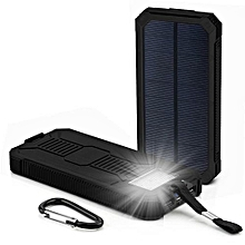 12000mAh LED Dual USB Ports Solar Panel Power Bank Case Charger DIY Kits Box