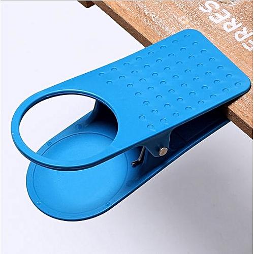 Strange Clip On Cup Holder Phone For Office Desk Blue Download Free Architecture Designs Rallybritishbridgeorg