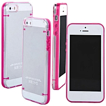 Ultra Thin Transparent Crystal Clear Hard TPU Case Cover For iPhone 5 / 5S-Pink