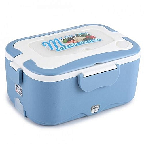 7f43f3a79bbe 1.5L Portable Car Electric Heating Lunch Box Food Warmer Container For  Traveling (Blue 12V)