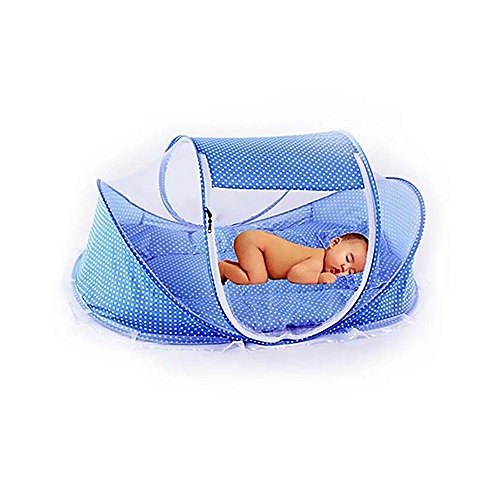Large Portable Baby Cot Mosquito Net - Sky Blue
