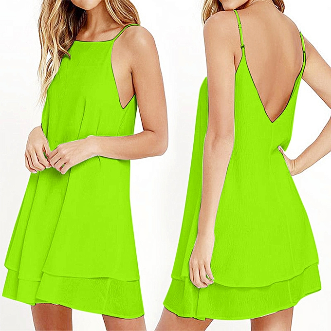 7418303edfce whiskyky store Women Strappy Loose Casual Solid Short Mini Dress Summer  Beach Dress Plus