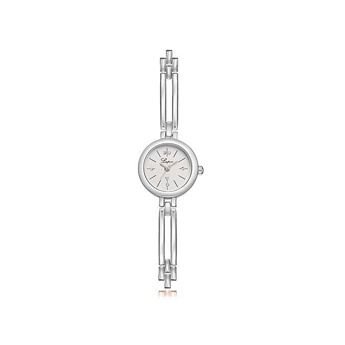 b4a59ca6f50 bluerdream-Fashion Women Stainless Steel Crystal Dial Quartz Bracelet Luxury  Wrist Watch C-Sliver
