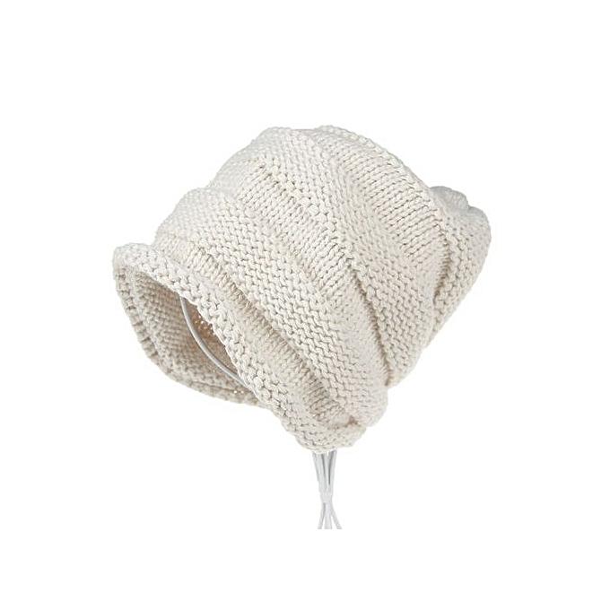 7c20e0cf2da8e4 Wenrenmok Store Women Fashion Knitting Cashmere Keep Warm Winter Hat-Beige