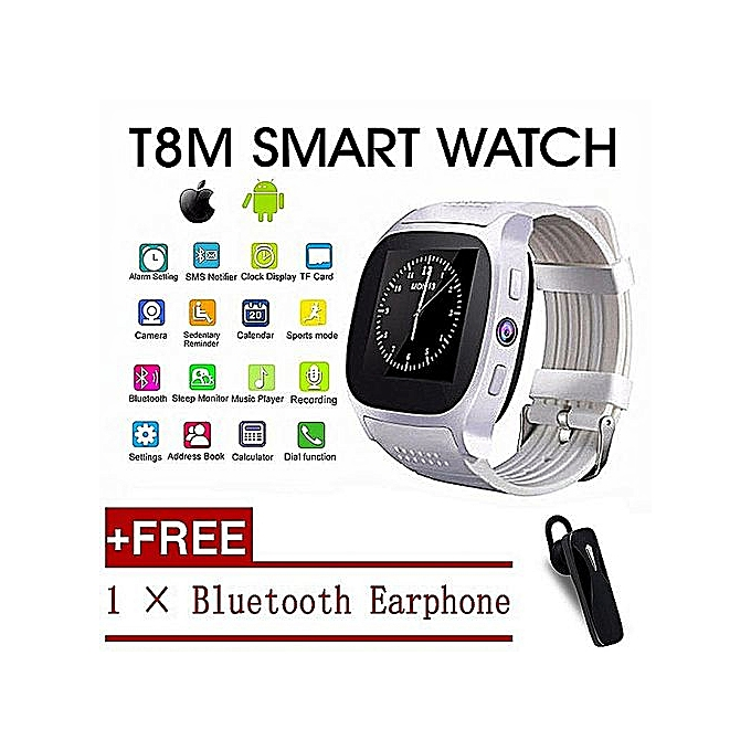 T8 Bluetooth Smart Watch With CamMusic Player Facebook Whatsapp Sync SMS  Smartwatch Support SIM TF Card For Android IOS