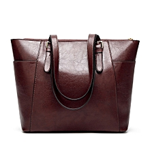 Womens Leather Handbags Satchel Shoulder Bags - Wine Red