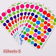 Colorful DIY Photo Album Sticker Kids Stationery Diary Scrapbook Stickers multicolor