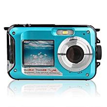 Double Screen Underwater Camera HD Waterproof Photo Shooting Video Recording Sports Diving LED Flash Digital Video Camera LOOKFAR