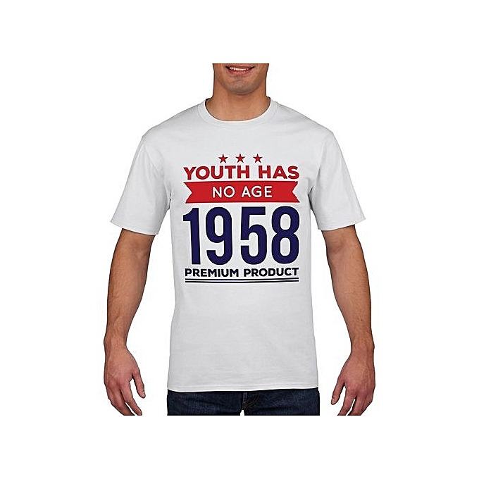 60th Birthday T Shirt 1958 Funny Novelty Gift Fathers Day Mens Cotton