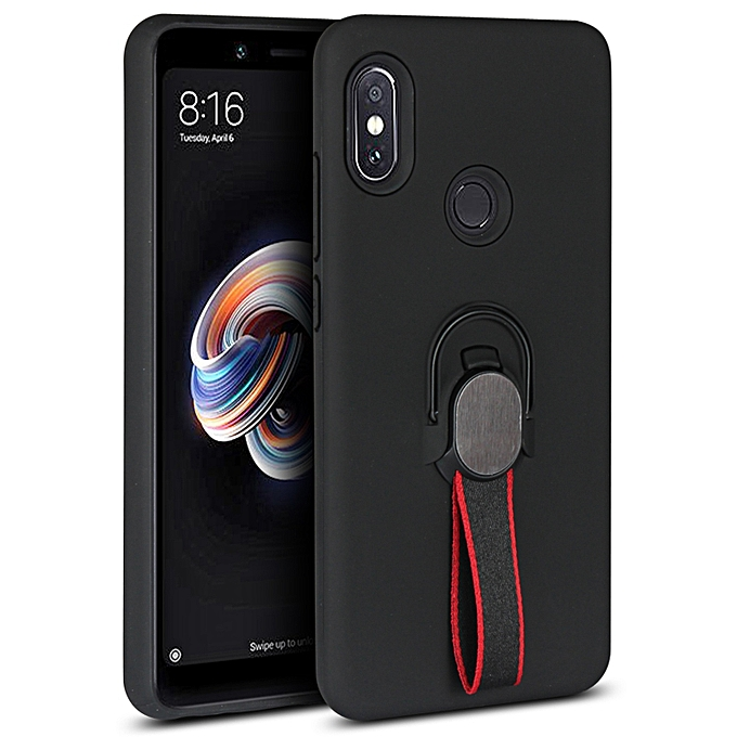 online store 3afa3 b4f8b Redmi Note 5 Pro Case,Ultra-Thin Soft TPU+Hard PC Cover Hybrid Drop-Proof  Protection with Finger Strap & Magnetic Ring Stand Case for Xiaomi Hongmi  ...