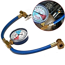 "26"" R134a AC HVAC ReCharge Measuring Refrigerant Hose Can Tap W/ Gauge System"