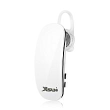 XSUNi XBT8 Bluetooth V4.0 Car Business Earphones - WHITE