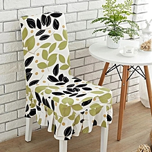 KCASA WX-PP5 Elegant Flower Elastic Stretch Chair Seat Cover With Skirt Hem Dining Room Home Wedding