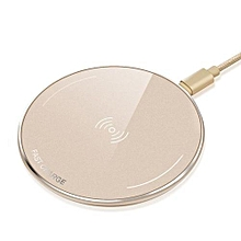 Quick Charging Qi Wireless Charger Pad For IPhone X 8 Plus Samsung Galaxy Note 8 S8 Plus S7 Lumia 950 Smart Phone Charger - Gold