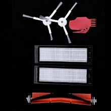 6pcs Vacuum Cleaner Parts 2 X Side Brush + 2 X HEPA Filter + 1 X Main Brush + 1 X Tool Suitable For Xiaomi Mi Robot