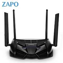 ZAPO Z - 2600 Smart Dual-band WiFi Wireless Router 2.4 / 5GHz 2600M for Gaming-BLACK