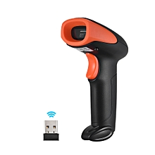 Handheld 1D Barcode Scanner Wireless & Wired Bar Code Reader with Receiver