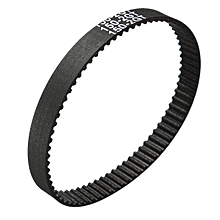 12PCS GT2 Timing Belt Annular Loop Rubber 6mm Width 2mm Pitch Close End 150-2GT Black