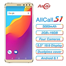 """AllCall S1 5.5"""" 2GB RAM + 16GB ROM Android 8.1 5000mAh 3G Smartphone - Gold"""