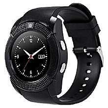 V8 Smart Wrist Watch Phone Bluetooth Calling For Android and Apple - Black