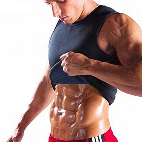d352a75345 Generic Neoprene Body Shaper Men Slimming Vest Thermo Sweat Sauna Waist  Trainer Belt 4XL