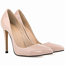Women's Pointed Toe High Heel Stiletto Pumps - Nude