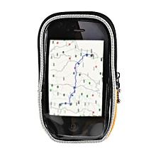 Touch Screen Quick Disassembling Fastener Double Zipper Bicycle Handlebar Phone Bag S - Orange