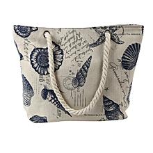 Women's Beach Printing Shoulder Bags Capacity Women Canvas Bags C