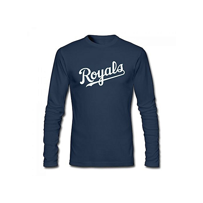 c7577fc1 Royal Kansas City Royals Third Wind Men's Cotton Long Sleeve T-shirt Blue