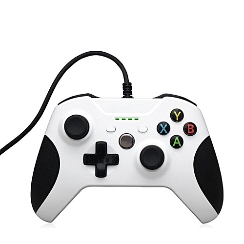 1.8m Wired USB Port Controller Dual Vibration Gamepad with 4 LED ...