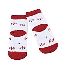 Child Christmas Soft Thickening Socks - White