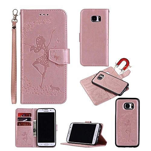 timeless design eee2d bbefd 3D Girl Two Unity Luxury Leather Flip Cover Case For Samsung Galaxy S7 Edge  / SM-G9350 5.5