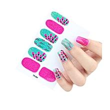 12pcs New DIY Nail Wraps Stickers Patch Foils Art Decals Nail Art Decals D-Multicolor