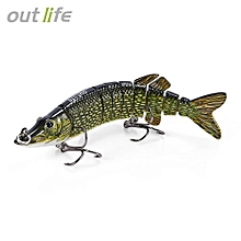 Outlife 9-segement Pike Muskie Fishing Lure Artificial Bait-MULTI