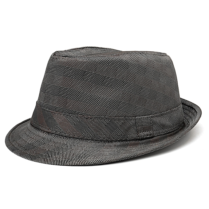 b5f15759ded Mens Womens Classic Outdoor Canvas Plaid Jazz Hat Solid Short Brimmed Hat
