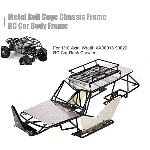 Metal Roll Cage Chassis Frame RC Car Body for 1/10 Axial Wraith AX90018  90020 RC Car Rock DIY Crawler Racer