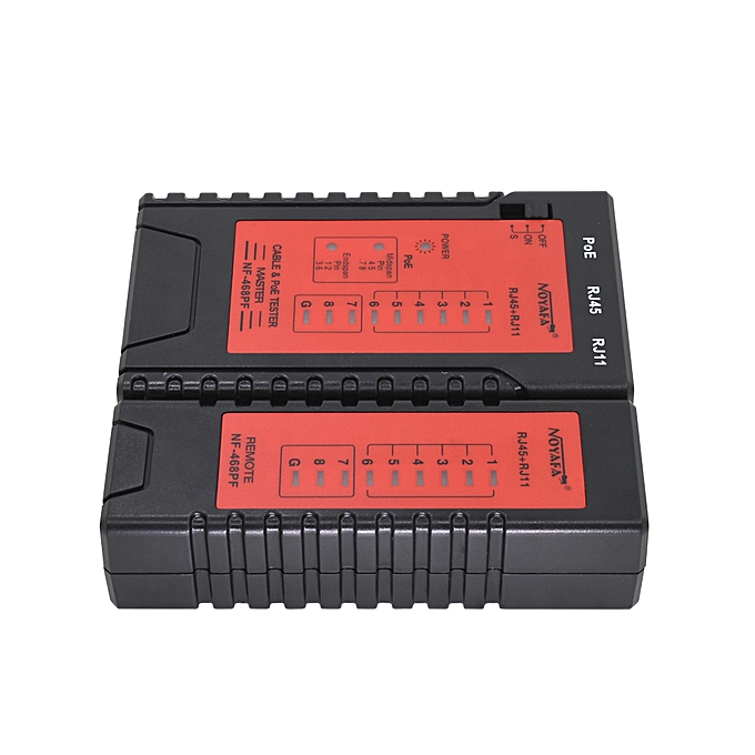NF-468PF Cable testers POE Tester Check the RJ11& RJ45 Cable quickly Detect  Automatically tests for continuity