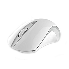 USB referred to as mini warm hand wireless mouse 1600DPI ergonomic wireless mouse for Mice Gamer for Computer Desktop (White)