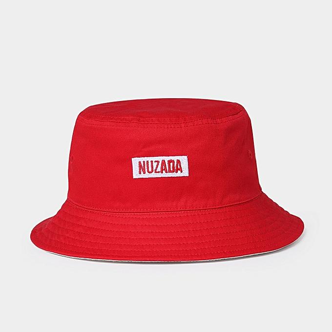 half off e0ff4 fe69f Double-Sided Fisherman Cap Simple Men Women Outdoor Folding Cotton Bucket  Hat Red