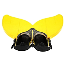 NEW Teen Teenager Foot Swimming Fins Flippers Swim Fin Swimming Foot Flipper Diving Monofin Mermaid Tail Yellow