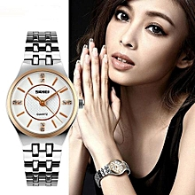 1133 Women Quartz Watches Fashion Casual Dress Stainless Steel Ladies Watch Waterproof Simple Wristwatches - Silver